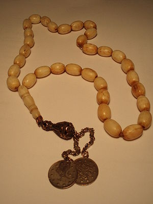 Prayer beads - A misbaha, a device used for counting tasbih