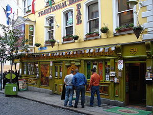 Nederlands: Temple Bar district Dublin Ireland