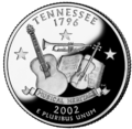 Tennessee quarter, reverse side, 2002.png