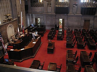 Tennessee House of Representatives - Image: Tennessee state capitol house chamber 2002