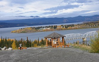 Teslin, Yukon - Teslin from the southeast, in 2005
