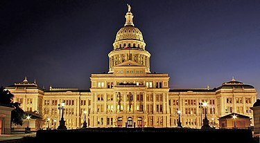 The Texas State Capitol at night Texas State Capitol Night.jpg
