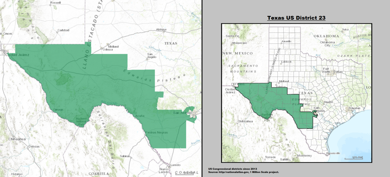 Texas's 23rd congressional district - since January 3, 2013.