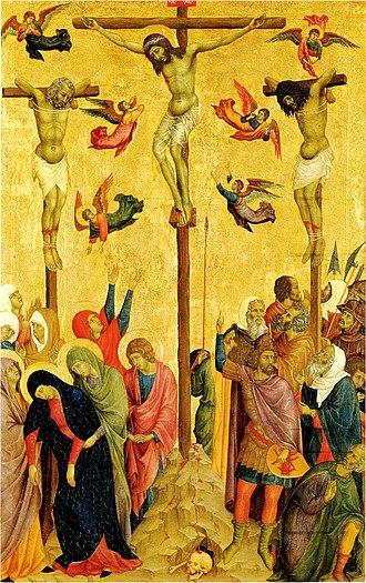 Swoon of the Virgin - Image: The Cucifixion 157 Мастер Читта ди Кастелло. Манчестер