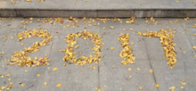 "The ""2017"" made up with Ginkgo leaves cropped version.png"