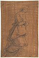 The Archangel Gabriel Kneeling to the Right; Small Study of Head at Lower Left. MET DP812310.jpg