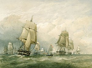 The Baltic fleet sailing from Spithead, 11 March 1854