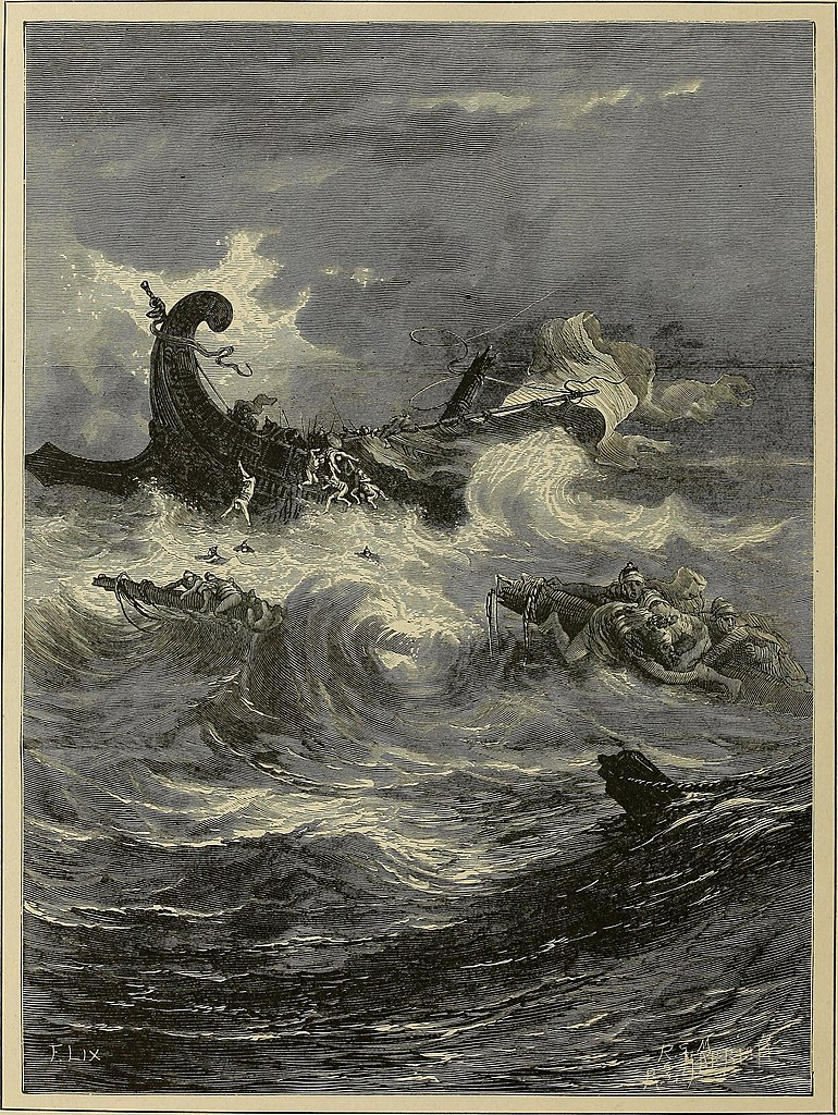 파선 당한 사도 바울(귀스타브 도레, Gustave Dore, 1866년)