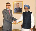 The Chief Minister of Jammu and Kashmir, Shri Omar Abdullah calling on the Prime Minister, Dr. Manmohan Singh, in Jammu on February 02, 2014.jpg