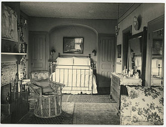 Bedroom - A bedroom in the Deanery, Bryn Mawr College