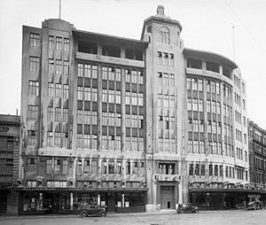 Dominion Building, Wellington - The Dominion Building in around 1940