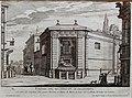 The Fountain of the Prince of Palestrina (Palazzo Barberini), print by Giovanni Battista Falda, in the Fontane di Roma, 1691 - Jordan Schnitzer Museum of Art, University of Oregon - Eugene, Oregon - DSC09419.jpg
