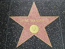 Jayne Mansfield's star on the Hollywood Walk of Fame