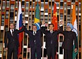 The Leaders of BRIC countries, the President of Brazil, Mr. Lula da Silva, the President of Russia, Mr. Dmitry A. Medvedev, the Prime Minister of India, Dr. Manmohan Singh and the President of China.jpg