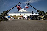 The M777 howitzers attached with the American and Japanese flags was displayed on the Friendship Festival 11 May 2019 in Camp Fuji.jpg