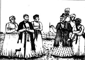 Avittom Thirunal Balarama Varma - The Maha Rajah and his attendants