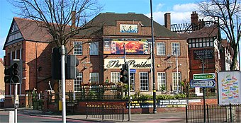 The Mermaid, site of Fall of Because's first concert with Broadrick The Mermaid, Sparkhill.jpg