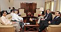 The Minister of Public Works of Afghanistan, Dip Eng. Najibullah Aoudjan calls on the Union Minister for Road Transport & Highways, Dr. C.P. Joshi, in New Delhi. The Minister of State for Road Transport & Highways.jpg
