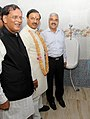 The Minister of State for Culture (Independent Charge), Tourism (Independent Charge) and Civil Aviation, Dr. Mahesh Sharma inaugurating the Sulabh toilet, at Assi Ghat, in Varanasi on September 05, 2015.jpg