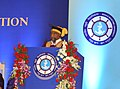 The Minister of State for Road Transport & Highways and Shipping, Shri P. Radhakrishnan addressing at the Second Convocation Day Celebration of Indian Maritime University, in Chennai on January 19, 2016.jpg