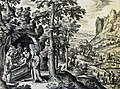 The Phillip Medhurst Picture Torah 276. Burial of Jacob. Genesis cap 50 v 13. Galle.jpg