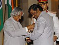 The President, Dr. A.P.J. Abdul Kalam presenting Padma Shri to Prof. Ramachandran Balasubramanian, Director of Institute of Mathematical Science, at investiture ceremony in New Delhi on March 29, 2006.jpg
