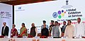 The President, Shri Pranab Mukherjee at the inauguration of the 2nd Edition of the Global Exhibition on Services-2016 (GES), at India Expo Centre & Mart, Greater Noida, Uttar Pradesh.jpg