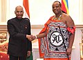 The President, Shri Ram Nath Kovind meeting with His Majesty Mswati III, the King of Swaziland, at Lozitha Palace, in Swaziland, Shikhuphe on April 09, 2018.jpg