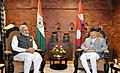 The Prime Minister, Shri Narendra Modi with the Prime Minister of Nepal, Shri K.P. Sharma Oli ahead of the delegation level talks, in Kathmandu, Nepal on May 11, 2018.JPG