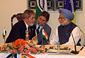 The Prime Minister Dr. Manmohan Singh interacting with the Brazilian President, Mr. Luiz Inacio Lula da Silva at the signing ceremony between India and Brazil, in New Delhi on June 4, 2007.jpg