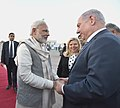 The Prime Minister of Israel, Mr. Benjamin Netanyahu being seen off by the Prime Minister, Shri Narendra Modi, on his departure from Ahmedabad on January 17, 2018.jpg