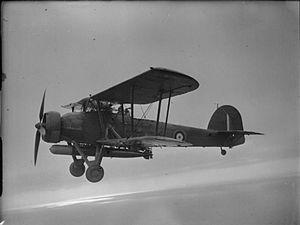 785 Naval Air Squadron - A Fairey Swordfish of 785 NAS in flight.