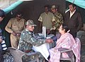 The Security personnel conducting health check to the 'Yatri' on the Amarnath Yatra.jpg