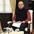 The Union Minister for Finance and Corporate Affairs, Shri Arun Jaitley briefing on demonetization, in New Delhi on December 29, 2016.jpg
