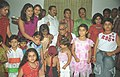 The Vice President Shri Bhairon Singh Shekhawat with the young children from Mother's Pride (Pre School) who tied Rakhi to him during the auspicious occasion of 'Raksha Bandhan', in New Delhi on August 19, 2005.jpg