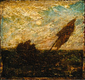 Albert Pinkham Ryder - The Waste of Waters is Their Field, early 1880s, Brooklyn Museum