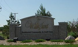 Entrance sign to The Willows