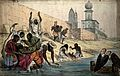 The death of Hindoos on the banks of Ganges. Wellcome V0050565.jpg