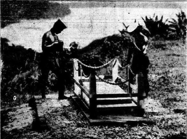 The grave of Maurice Wilder-Neligan