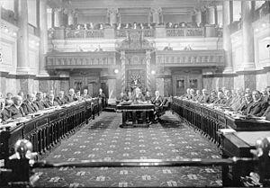 British Columbia general election, 1920 - The legislature of British Columbia in session, 1921