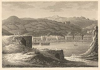 The lower town and harbour of Fishguard