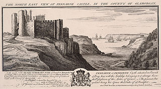 The north east view of Pennarth castle, in the county of Glamorgan
