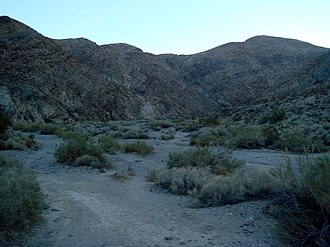 Darwin Falls - Image: The view of Darwin Canyon from the trail head, Death Valley National Park, California, USA