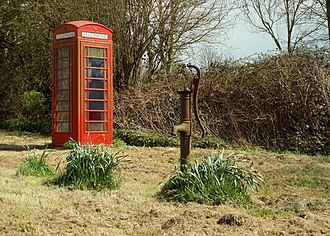 Chignal St James - Village pump and telephone box