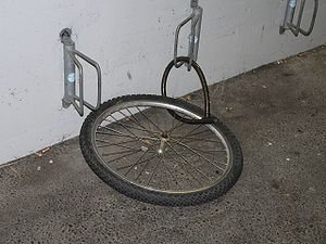 Theft - Bicycles can occasionally be stolen, even when locked up, by removing the wheel or cutting the lock that holds them.