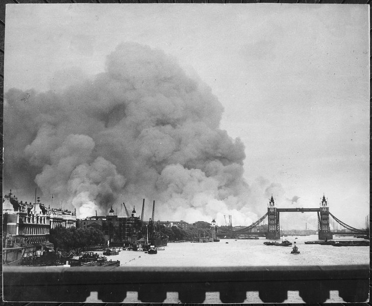 This picture, taken during the first mass air raid on London, 7th September 1940, describes more than words ever... - NARA - 541917
