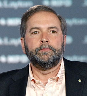 Français : Thomas Mulcair le 23 avril 2011 à M...