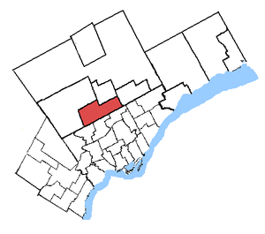 Thornhill (electoral district) - Thornhill in relation to other Greater Toronto ridings (2003 boundaries)