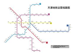 tianjin metro system map 201804png