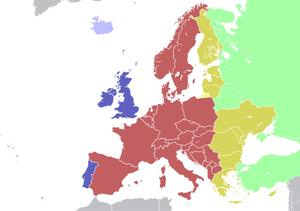 Husos horarios de Europa
